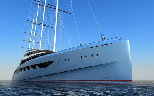 Sailing Yacht Atlas bow