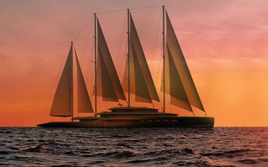 Sailing Yacht Atlas underway