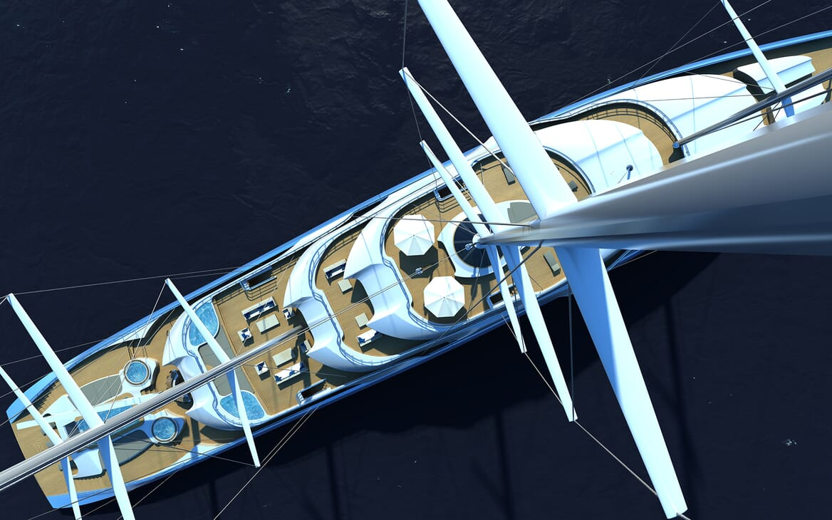Sailing Yacht Atlas aerial