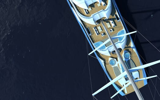 Sailing Yacht Atlas birds view