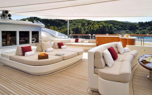 Motor Yacht ANNA I Sun Deck Sun Pad
