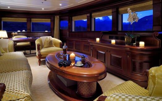 Motor Yacht ANNA I Forward Saloon