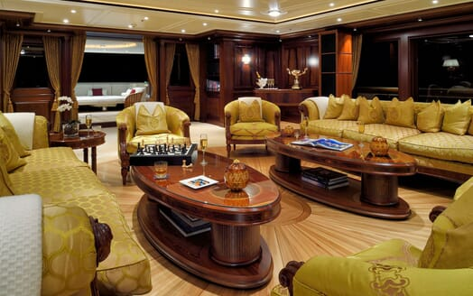 Motor Yacht ANNA I Main Saloon