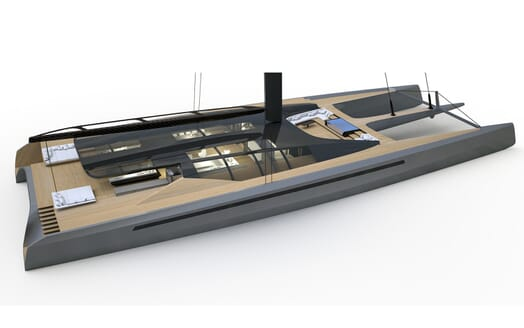 Sailing Yacht Black Cat aerial