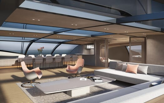 Sailing Yacht Black Cat saloon