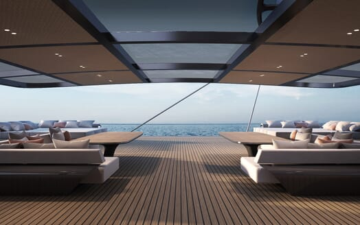 Sailing Yacht Black Cat main deck