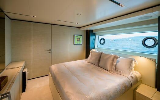 Motor Yacht December Six guest cabin