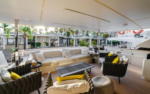 Motor Yacht December Six outdoor living space