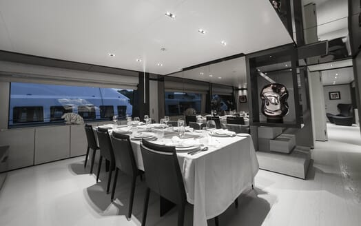 Motor Yacht December Six dining room