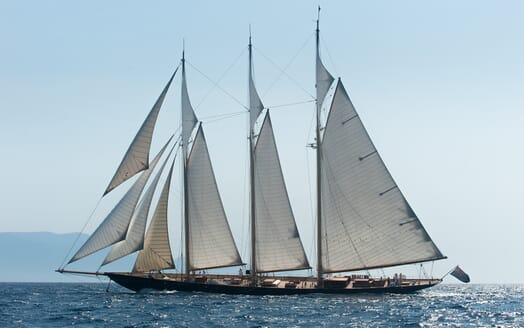 Sailing Yacht Atlantic underway