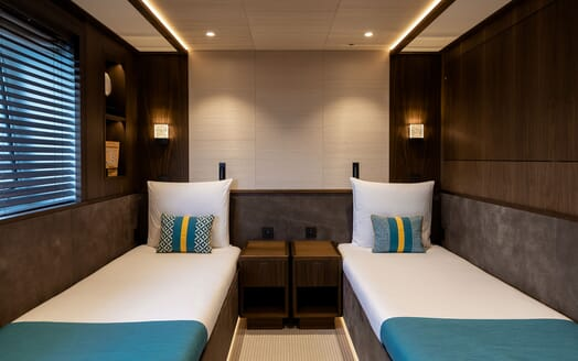 Motor Yacht MANA Twin Guest Stateroom