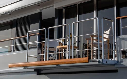 Motor Yacht MANA Fold Down Balcony