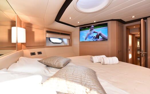Motor Yacht JUST MINE Master Stateroom TV
