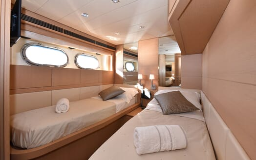 Motor Yacht JUST MINE Twin Guest Stateroom