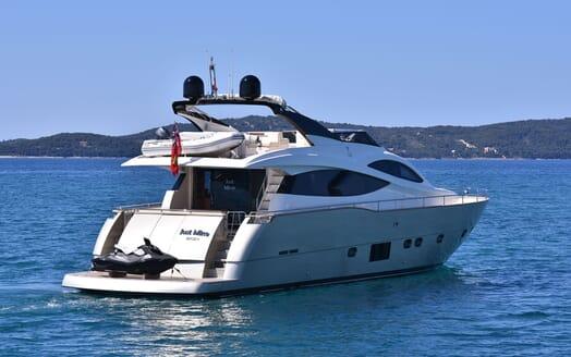 Motor Yacht JUST MINE Exterior Aft View with Jetski