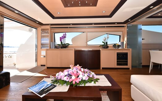 Motor Yacht JUST MINE Main Saloon View