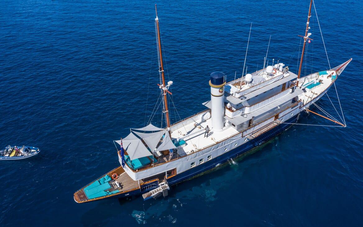 Motor Yacht KALIZMA Aerial Decks