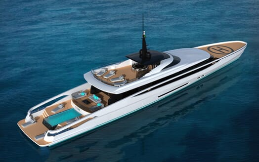 Motor Yacht FAST DISPLACEMENT XLR-300 aerial