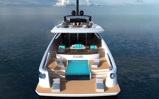Motor Yacht FAST DISPLACEMENT XLR-300 aft