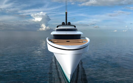 Motor Yacht FAST DISPLACEMENT XLR-300 bow