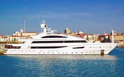 Motor yacht BEATRIX hero shot on water