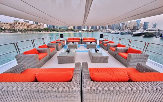 Motor Yacht Moonlight outdoor seating area