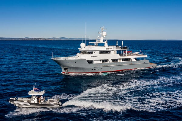 Motor Yacht OUR WAY Profile with Tender