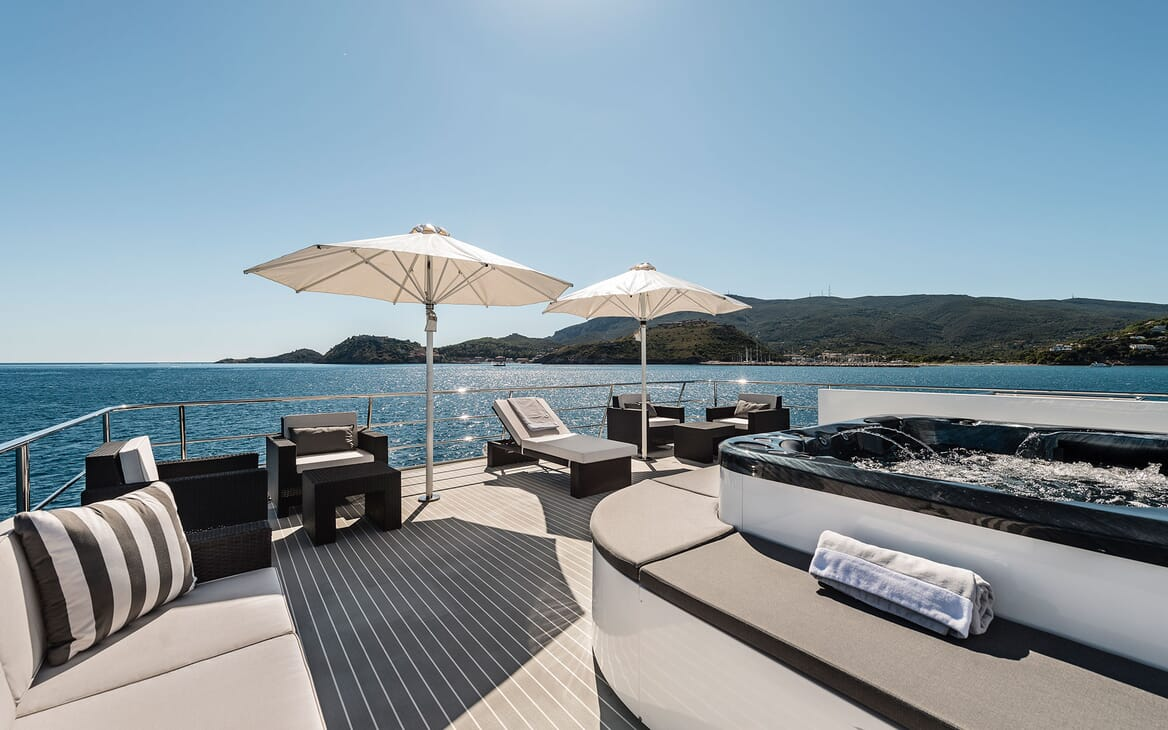 Motor Yacht OUR WAY Sun Deck Jacuzzi