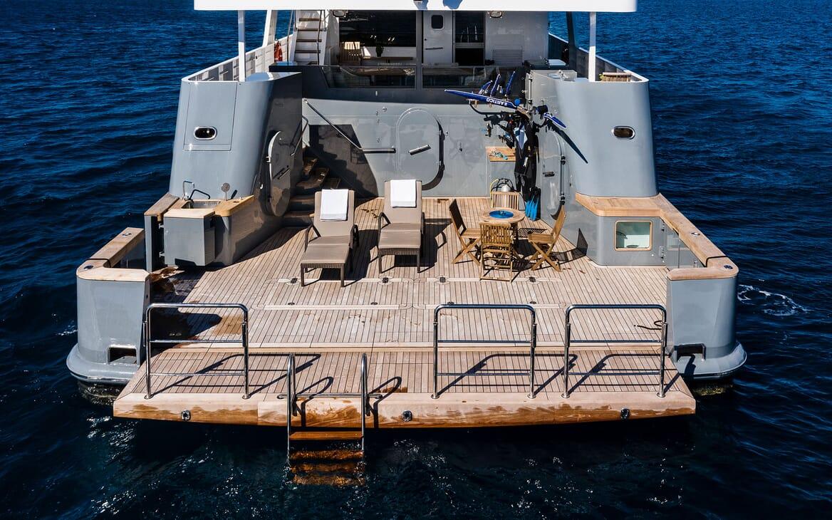 Motor Yacht OUR WAY Aft Deck Swim Platform