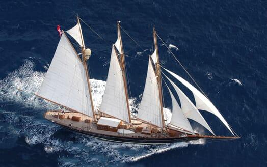 Sailing Yacht SHENANDOAH Aerial Underway