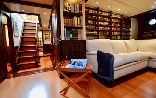 Sailing Yacht SHENANDOAH Sofa and bookcase