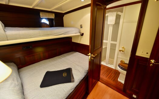 Sailing Yacht SHENANDOAH Guest Bathroom