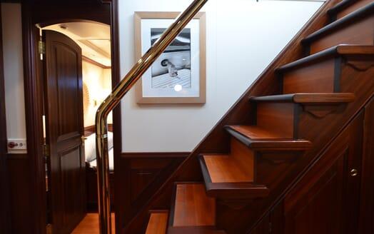 Sailing Yacht SHENANDOAH Staircase
