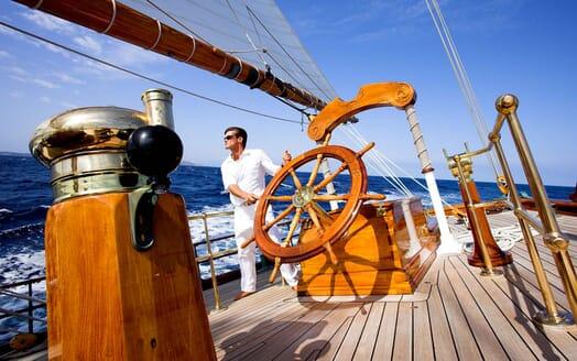 Sailing Yacht SHENANDOAH Wheel