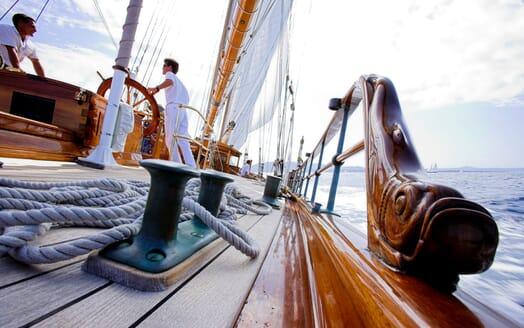 Sailing Yacht SHENANDOAH On Deck