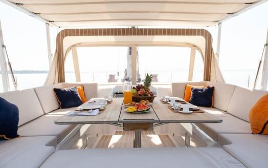 Sailing Yacht SWAN 80-102 SAPMA Deck Dining Detail