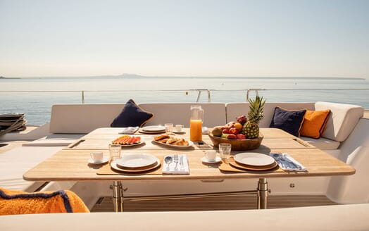 Sailing Yacht SWAN 80-102 SAPMA Side On Deck Dining Table