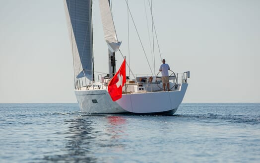 Sailing Yacht SWAN 80-102 SAPMA Aft Underway