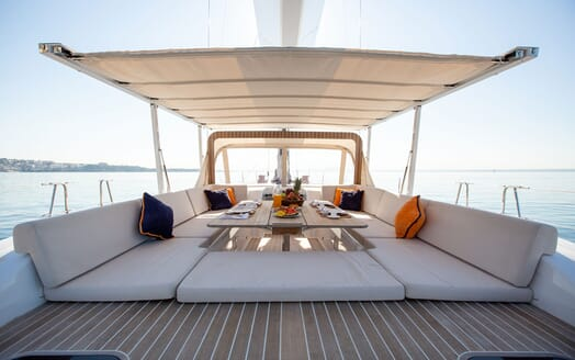 Sailing Yacht SWAN 80-102 SAPMA Deck Dining Table with Sunshade