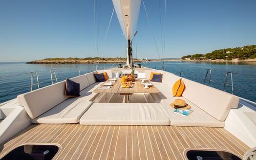 Sailing Yacht SWAN 80-102 SAPMA Deck Dining Table 2