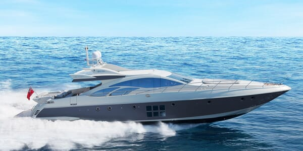 Motor Yacht Anche No running shot