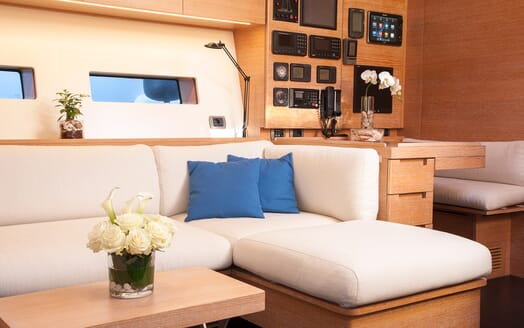 Sailing Yacht Inti3 seating area