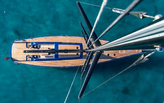 Sailing Yacht Inti3 under anchor