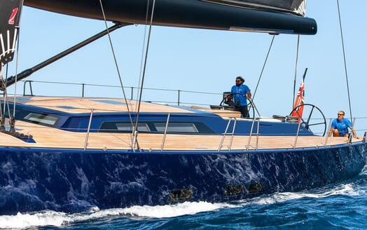 Sailing Yacht Inti3 setting sail