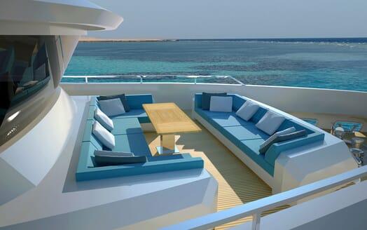 Motor Yacht Flexplorer outside seating area
