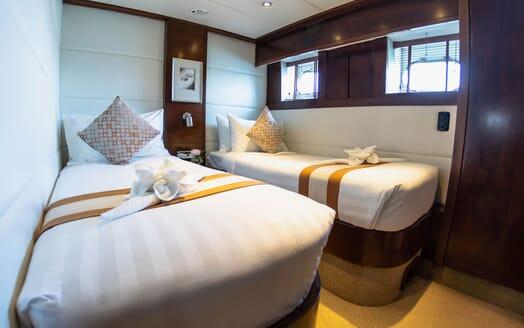 Motor Yacht MIA KAI Guest Twin Stateroom