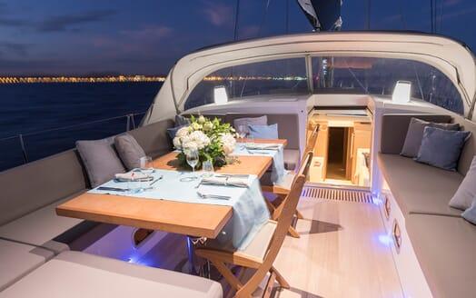 Sailing Yacht Allegro cockpit