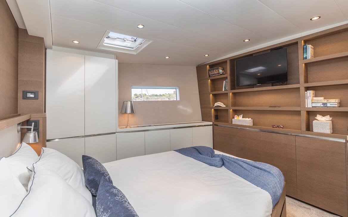 Sailing Yacht Allegro master stateroom