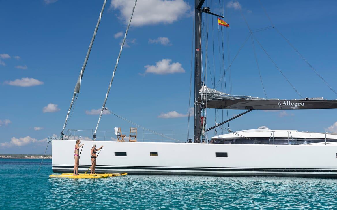 Sailing Yacht Allegro paddleboards