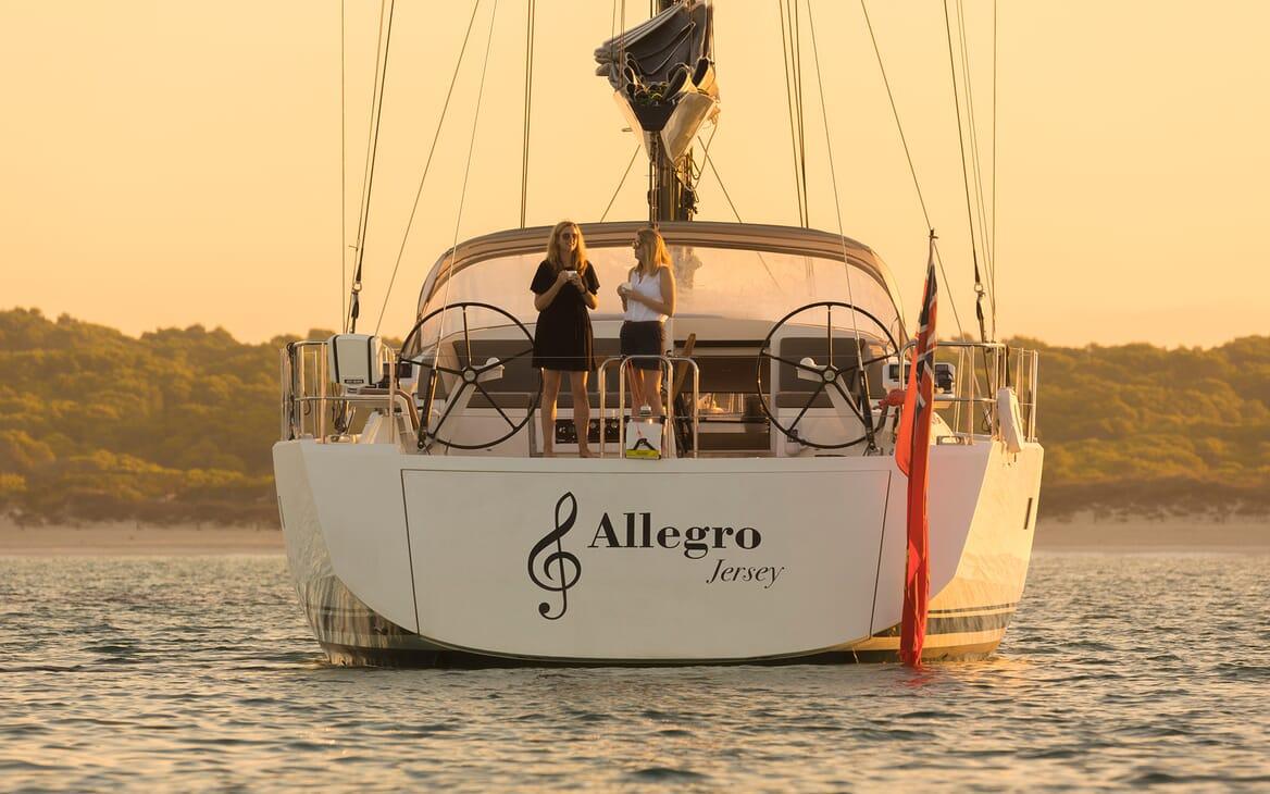 Sailing Yacht Allegro anchored